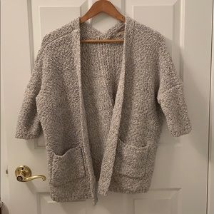 Forever 21 Gray knit cozy sweater cardigan